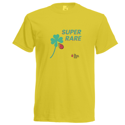 Super Rare -Yellow T Shirt- Adult Large