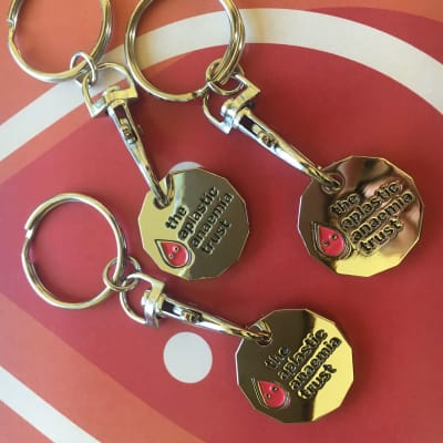 Trolley coin key-ring